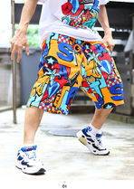 Staple More Shorts Printed Pants Tropical Patterns Unisex Street Style 6