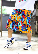 Staple More Shorts Printed Pants Tropical Patterns Unisex Street Style 7