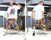 Staple More Shorts Printed Pants Tropical Patterns Unisex Street Style 8