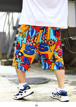 Staple More Shorts Printed Pants Tropical Patterns Unisex Street Style 10
