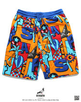 Staple More Shorts Printed Pants Tropical Patterns Unisex Street Style 12