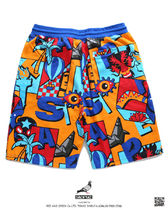 Staple More Shorts Printed Pants Tropical Patterns Unisex Street Style 13
