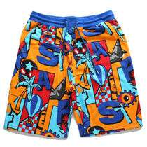 Staple More Shorts Printed Pants Tropical Patterns Unisex Street Style 19