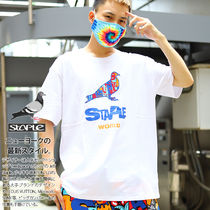 Staple Crew Neck Pullovers Tropical Patterns Unisex Street Style