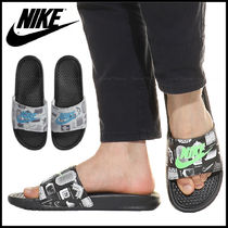 Nike BENASSI Street Style Plain Shower Shoes Logo Shower Sandals