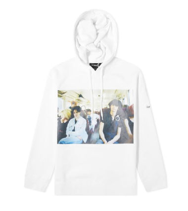 Street Style Collaboration Long Sleeves Cotton Logo Hoodies