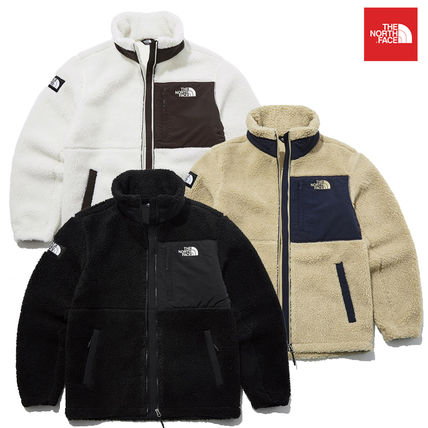 THE NORTH FACE SHERPA Short Unisex Blended Fabrics Street Style Logo