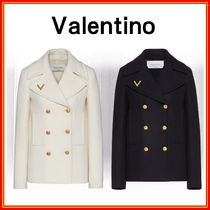 VALENTINO Short Casual Style Wool Party Style Office Style