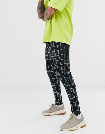 ASOS Other Plaid Patterns Street Style Logo Cropped Pants