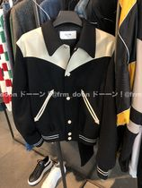 CELINE Short Wool Bi-color Plain Varsity Jackets