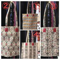 GUCCI Flower Patterns Casual Style A4 Totes