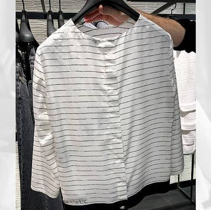 CHANEL Casual Style Silk Long Sleeves Plain Medium Party Style