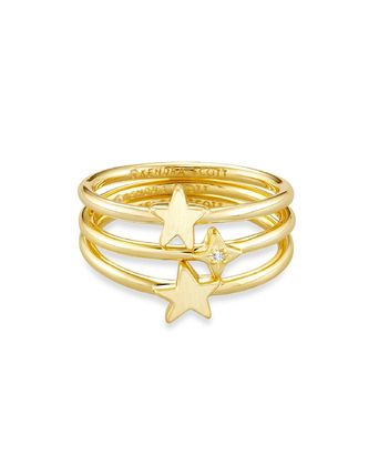 Star Casual Style Party Style Brass Office Style 14K Gold