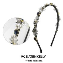 KATENKELLY Costume Jewelry Casual Style Blended Fabrics Flower Studded