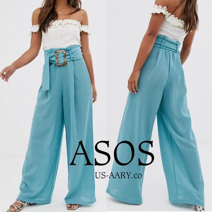ASOS Icy Color Casual Style Plain Long Street Style Elegant Style