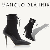 Manolo Blahnik Casual Style Blended Fabrics Leather Pin Heels Office Style