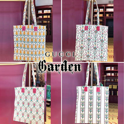 GUCCI Flower Patterns A4 Other Animal Patterns Totes