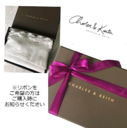 Charles&Keith Faux Fur Plain Folding Wallet Card Holders