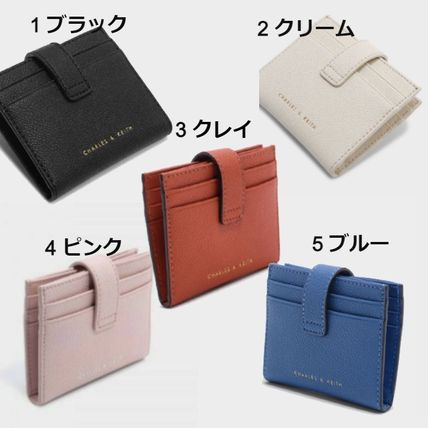 Charles&Keith Folding Wallet Faux Fur Plain Card Holders