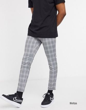 Tapered Pants Other Plaid Patterns Plain Tapered Pants