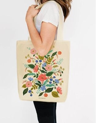 Flower Patterns Canvas A4 Totes
