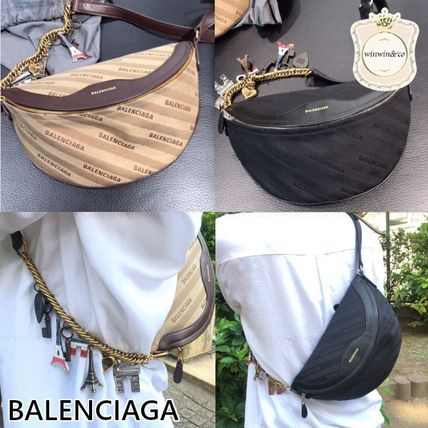 BALENCIAGA Monogram Casual Style Logo Hip Packs