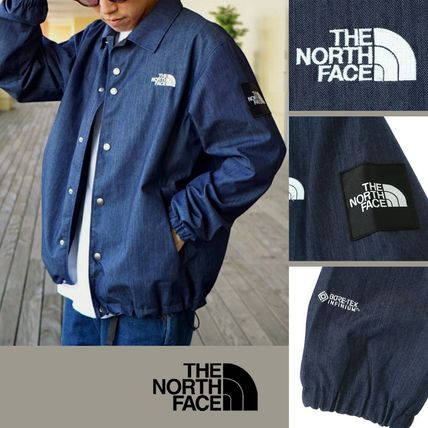THE NORTH FACE Unisex Denim Street Style Coach Jackets Logo Gore-Tex