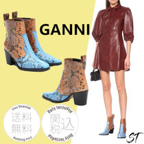 Ganni Casual Style Other Animal Patterns Leather