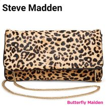 Steve Madden Leopard Patterns Casual Style Blended Fabrics Street Style