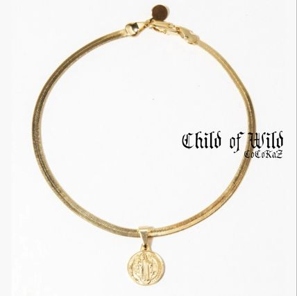 Coin 18K Gold Metallic Anklets