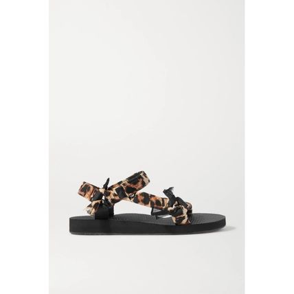 Leopard Patterns Casual Style Elegant Style Sandals