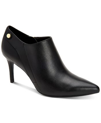 Casual Style Plain Leather Pin Heels Office Style