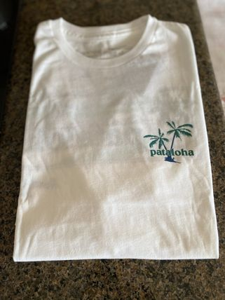 Patagonia Crew Neck Tropical Patterns Cotton Short Sleeves Logo