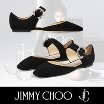 Jimmy Choo Square Toe Platform Round Toe Casual Style Suede Plain