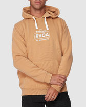 RVCA Pullovers Street Style Long Sleeves Plain Cotton Logo