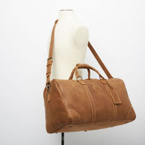 Roots Casual Style Plain Leather Handmade Logo Shoulder Bags