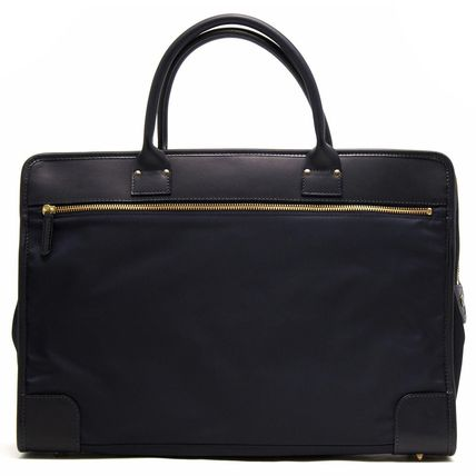 Nylon A4 Plain Leather Business & Briefcases