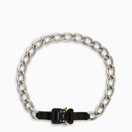 Street Style Metal Logo Necklaces & Chokers