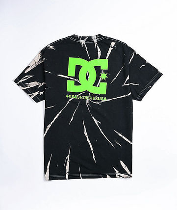 DC Shoes Crew Neck Crew Neck Pullovers Street Style Tie-dye Collaboration