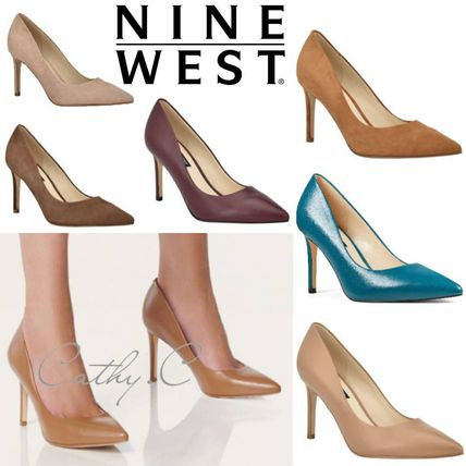 Nine West Casual Style Suede Plain Leather Pin Heels Party Style