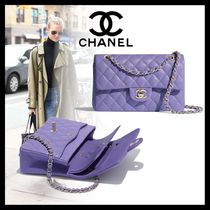 CHANEL Casual Style Calfskin Street Style 2WAY Chain Plain Leather