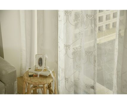 DECO VIEW Flower Patterns Unisex Sheer Curtains