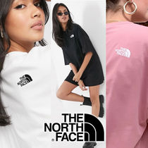 THE NORTH FACE Crew Neck Street Style Short Sleeves Logo T-Shirts