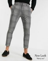 New Look Printed Pants Other Plaid Patterns Street Style Cotton