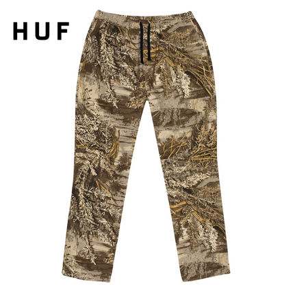 HUF Printed Pants Camouflage Street Style Logo Patterned Pants