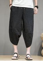 Stripes Street Style Cotton Sarouel Pants