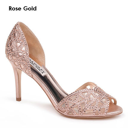 Open Toe Plain Leather Pin Heels Party Style With Jewels