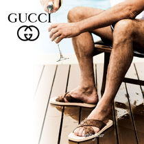 GUCCI Street Style Shower Shoes Logo Shower Sandals