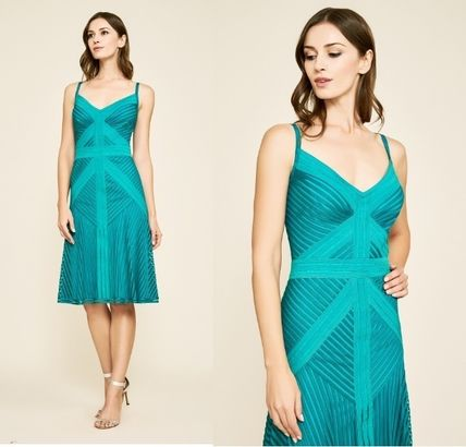 Casual Style Sleeveless Flared Medium Party Style Dresses