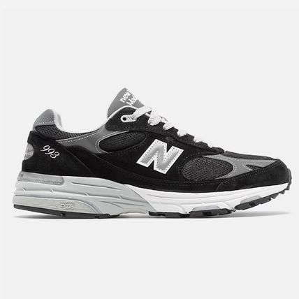New Balance 993 Suede Street Style Logo Sneakers